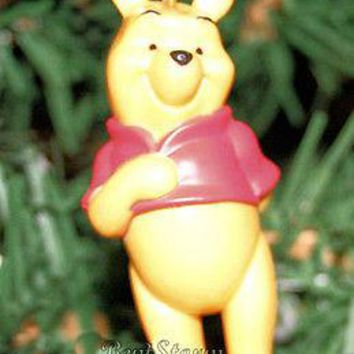 Licensed cool NEW Disney Winnie-the-Pooh Bear Classic  Red Shirt Christmas Ornament PVC Figure