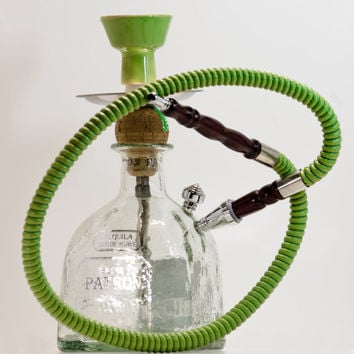 Custom Hookah Shisha made from a Patron 750ml by TopShelfHookah