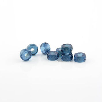 6x12mm Kyanite Quartz Heishi European Style Faceted Tyre Calibrated Gemstone, Big Hole faceted Beads Loose Gemstone- 5Pcs