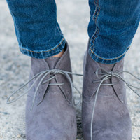 Bella Booties- Gray
