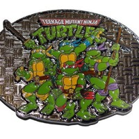 Teenage Mutant Ninja Turtles TMNT Group Belt Buckle