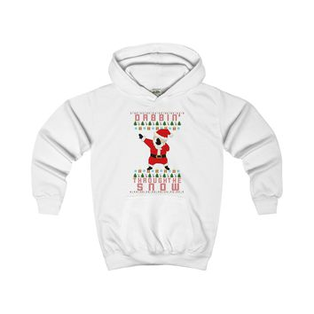 Dabbing Through the Snow | Ugly Christmas Sweater for Kids Hoodie