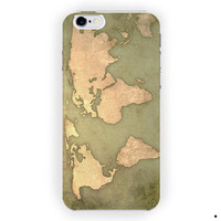 Vintage World Map Design Cover For iPhone 6 / 6 Plus Case