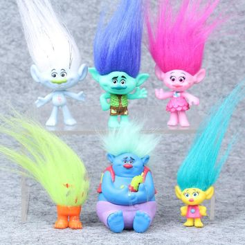 6Pcs/Set Trolls Action Toys