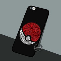 Pokeball Pokemon Game iPhone 4 5 SE 6 6s Cases Samsung Galaxy s5 s6 s7 Edge+ NOTE 5 4 3 #pokemon #yn