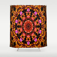 Tiger Lily Pattern Art Shower Curtain by Gwendalyn Abrams