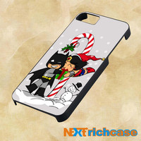 Batman and Wonder Woman Cristmas  For iPhone, iPod, iPad and Samsung Galaxy Case