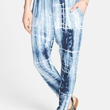 Lily White Tie Dye Harem Pants (Juniors) | Nordstrom