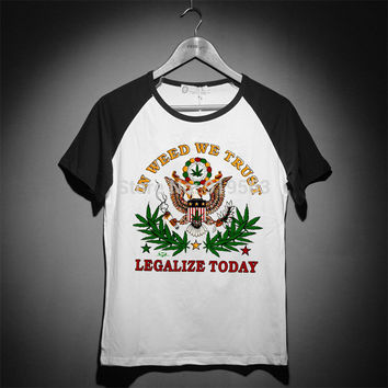 420 in weed we trust eagle bob marley lion logo baseball style t shirt summer co