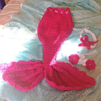 Baby Mermaids photo prop, cocoon, baby nest, costume Outfit 12-24 months