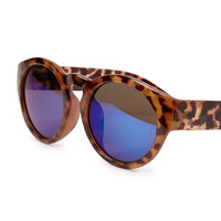 Mirrored Round Tortoise Sunglasses