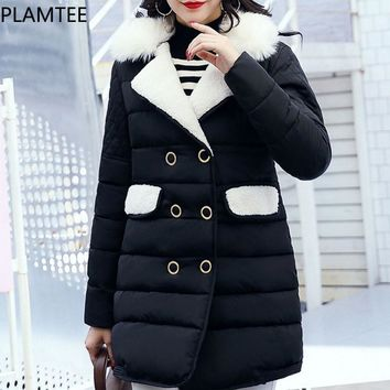 Hairy Turn-down Long Maternity Coat Thick Fashion Outerwear For Pregnant  Women