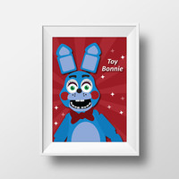 Five Nights at Freddy's Toy Bonnie Printable Wall Art