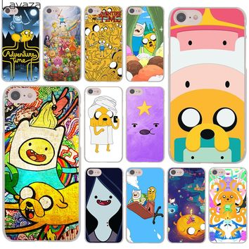 Lavaza Adventure Time  Finn and Jake Marceline Hard Cover Case for Apple iPhone 8 7 6 6S Plus 5 5S SE 5C 4 4S X 10 Coque Shell