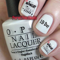 Midnight Memories One Direction Nail Decals