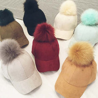 winter hat suede Hat Lady winter and autumn hip hop  ball Nagymaros peaked cap baseball cap  pattern for women and men