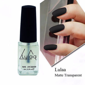 Nail Polish Magic Super Matte Transparent Nails Art Gel Frosted Surface Oil Nail Polish 1Pcs 6ML