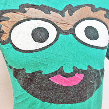 Retro Oscar The Grouch Sesame Street T-Shirt Small