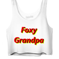 Spongebob Foxy Grandpa Crop Top