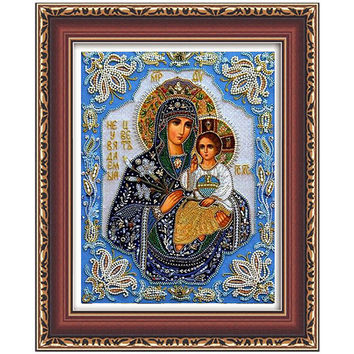 5d diy diamond embroidery painting Jesus Religious of Our Lady and baby mosaic beadwork Strass cross stitch pictures JR0041