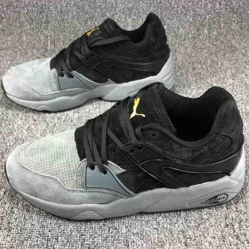 PUMA 2018 low top men and women tide brand fashion sports tide shoes F-CSXY grey/black
