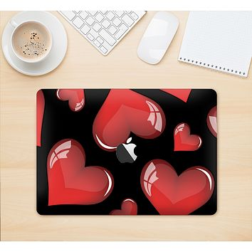 """The Glossy Red 3D Love Hearts Skin Kit for the 12"""" Apple MacBook"""