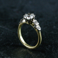 Vintage Diamond Solitaire Engagement Ring by Ruby Gray's | Ruby Gray's