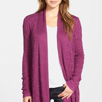 Women's NIC+ZOE Textured Open Front Cardigan,