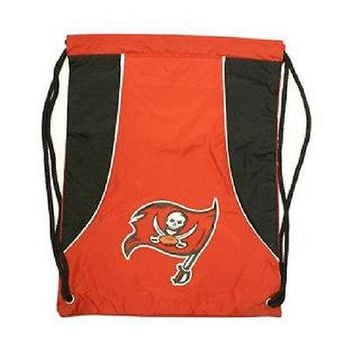 NFL Tampa Bay Buccaneers Draw-String Sling Bag Gym Backpack Back Pack  NEW