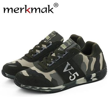 Merkmak Casual Unisex Camouflage Military Shoes 's Men Trendy Canvas Summer Breathable Camo Flat