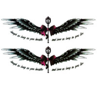 Large wings vintage Temporary Tattoo