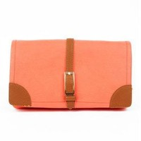 Colorblock salmon clutch - Colorblock Clutches- Salmon Clutches- $42