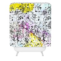 CayenaBlanca Flower Stones Shower Curtain