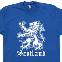 Scotland T Shirt Scotland Flag Shirt Vintage Scotland Soccer Shirt Scottish Lion Crest