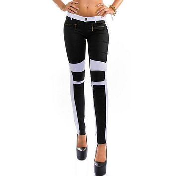 JECKSION Jeans Skinny Stretchy Zipper Fly Tights