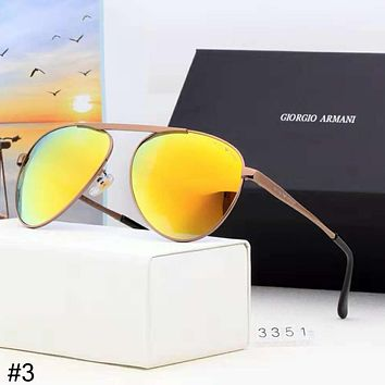 Giorgio Armani high-end street fashion men and women thin frame color film polarized sunglasses #3