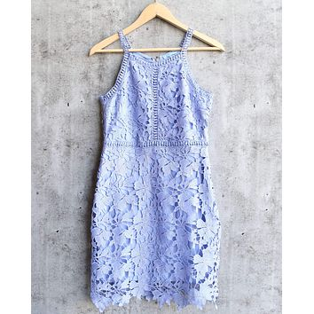 ashlyn - sleeveless lace bodycon dress - ice blue