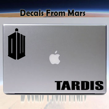 Tardis vinyl decal for MacBook by DecalsFromMars on Etsy