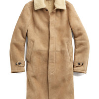 Shearling Topcoat in Camel