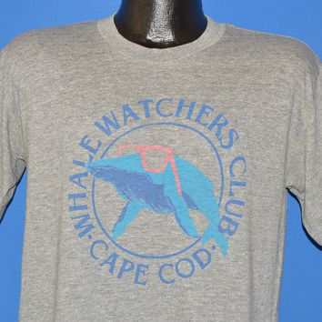 80s Whale Watching Club Cape Cod t-shirt Medium