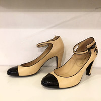 Chanel Beige Mary Jane Pump - sz 39.5