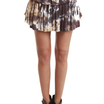 LoveShackFancy Mini Skirt Navajo Feather