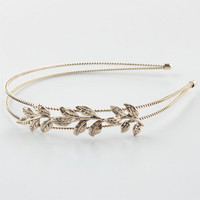 Full Tilt Leaf Headband Gold One Size For Women 24813262101