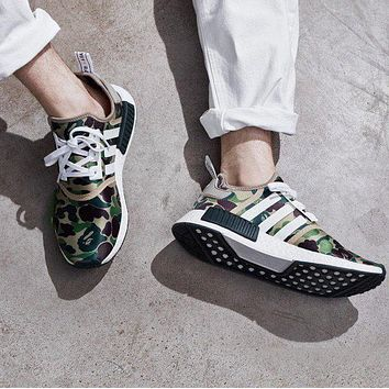 Best Sale A Bathing Ape x Adidas NMD R1 Camo