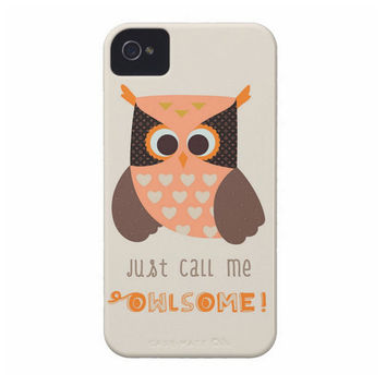 Owl Phone Case - Just Call Me Owlsome Quote to protect your iphone, Samsung , BlackBerry, iPod, HTC , Nexus 5,  Miui 2, Nokia, Sony device