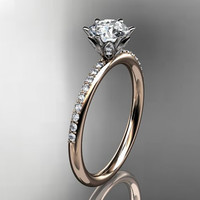14kt rose gold diamond unique engagement by anjaysdesigns on Etsy
