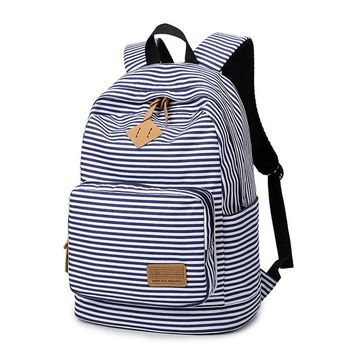 Feminine Backpack Striped Women Canvas Backpack Teenage Backpacks for Teen Girls Teenagers Bagpack Youth Female Mochila Feminina