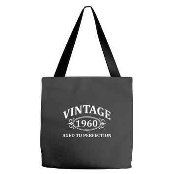 Vintage 1960 Aged to Perfection Tote Bags
