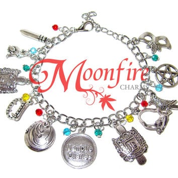 THE VAMPIRE JOURNALS Fandom Charm Bracelet