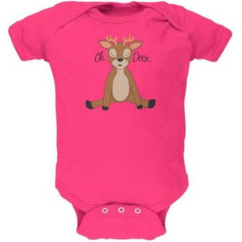 ONETOW Oh Deer Funny Pun Cute Soft Baby One Piece